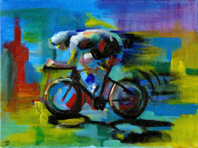 Abstract Cyclist