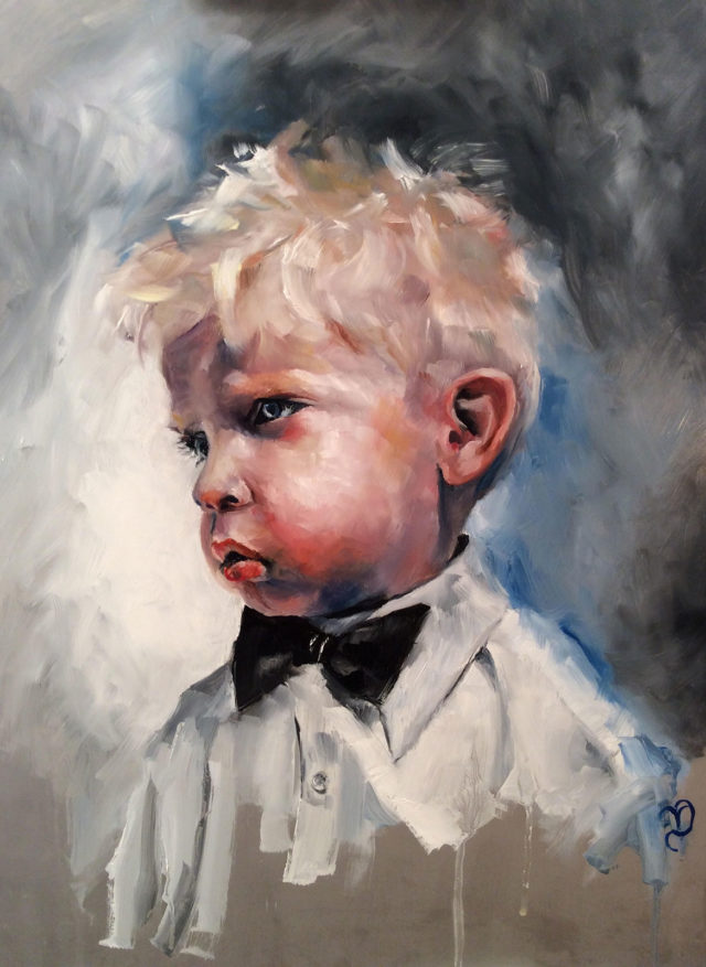 Boy with the Bow Tie by Vicki Davidson. North Yorkshire portrait painter