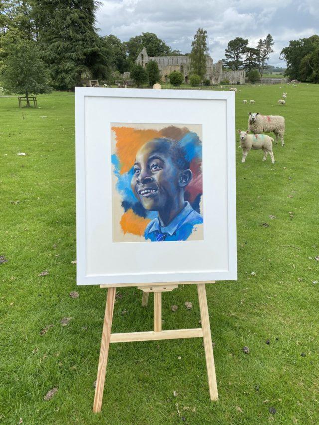 Joy framed by Vicki Davidson Artist. Jerveux Abbey