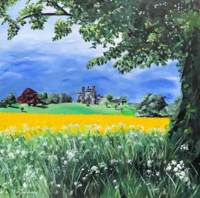 Hornby Castle painting. Hackforth, North Yorkshire. By Vicki Davidson