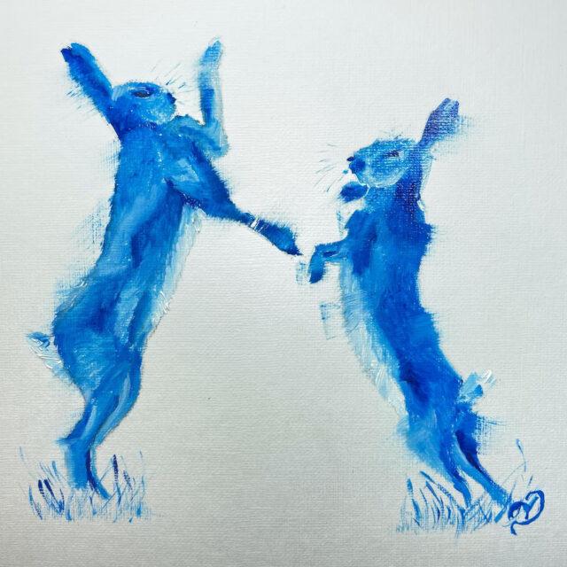 Original oil painting sketch by North Yorkshire artist Vicki Davidson
