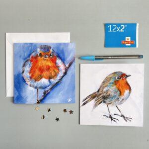 Vicki Davidson robin greeting cards for Christmas