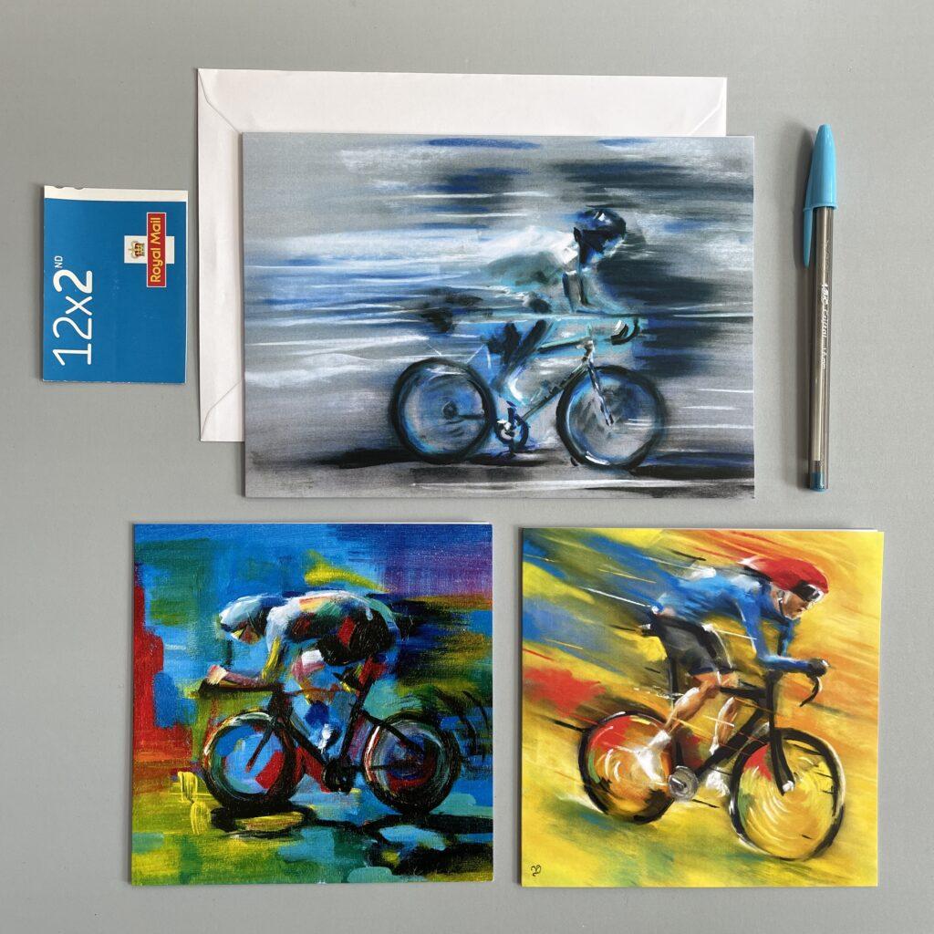Cycling cards by Vicki Davidson