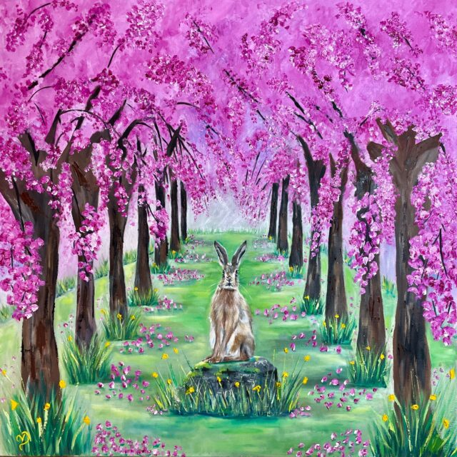 Blossom Avenue, with hare