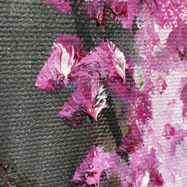Pink Impasto Paint