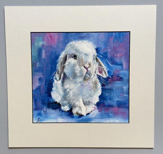 Sad bunny oil paint