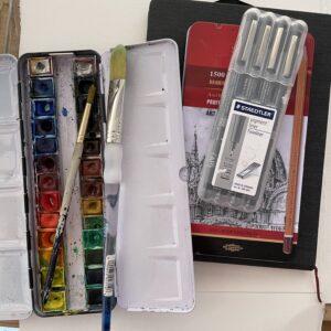 Travel kit for sketching